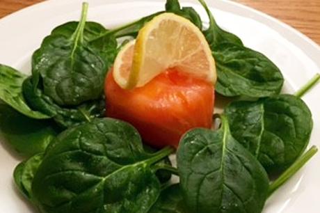 Smoked salmon timbale