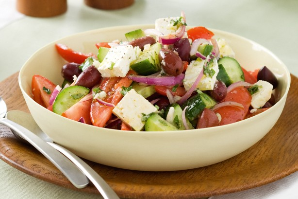 Greek Salad with Tofu