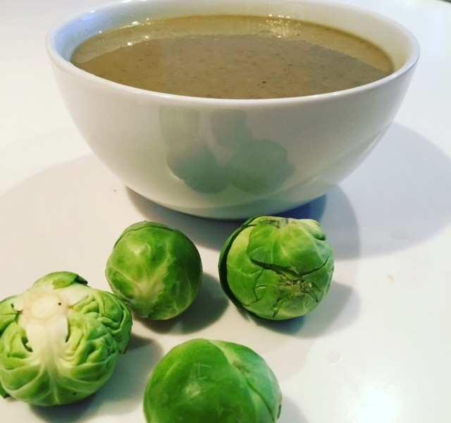 Brussels sprouts and chestnut soup