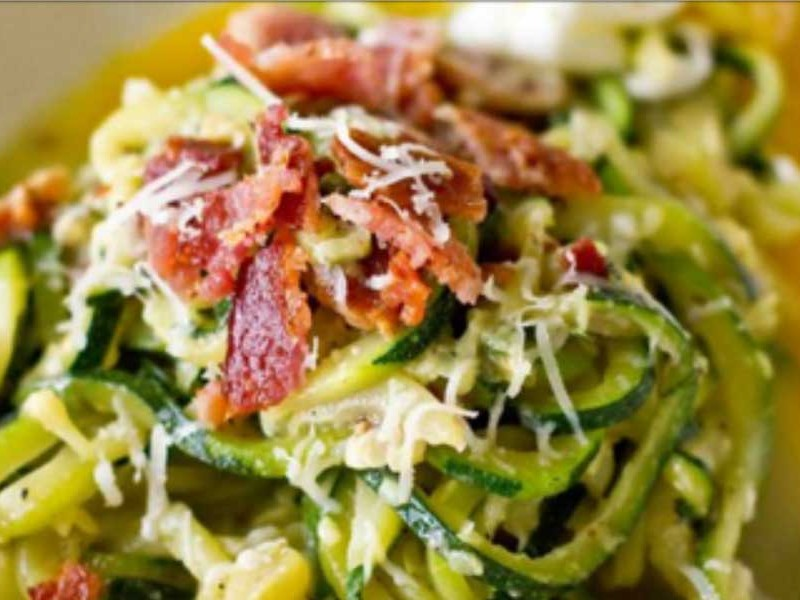 Superquick Courgetti Carbonara